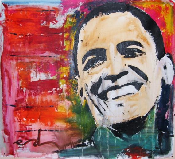 tableau peinture obama andy warhol hains edwige col vendu la vente aux enchres les andelys. Black Bedroom Furniture Sets. Home Design Ideas