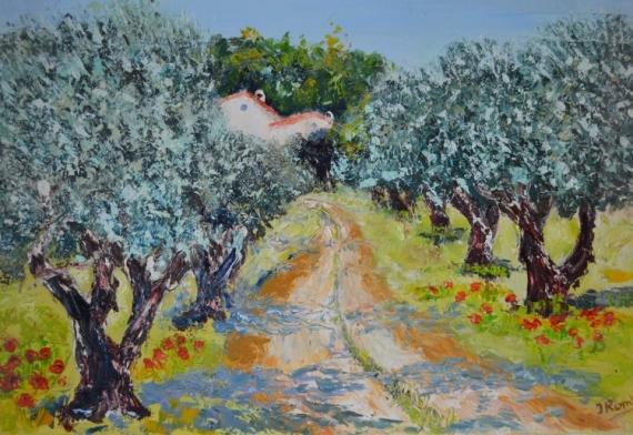 Photo Collection Tableau Peinture Provence Paysage