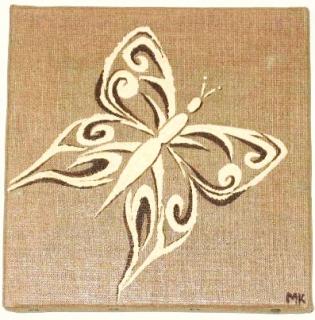 Tableau peinture papillon tribal arabesque petit papillon - Tribal papillon ...