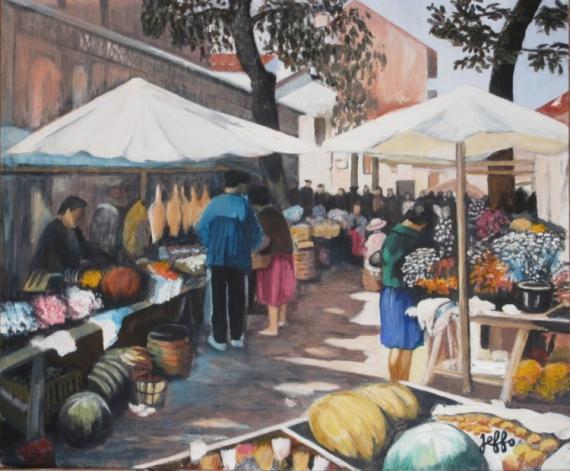 Tableau Peinture Pays Basque St Jean De Luz Scnes De March