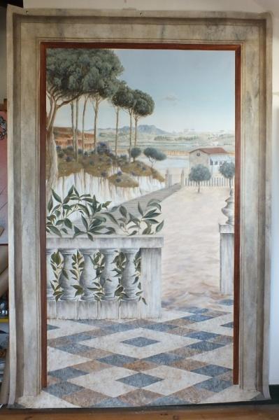 Tableau Trompe L Oeil Paysage : tableau peinture paysage mer trompe l 39 oeil grand format paysage provenal ~ Melissatoandfro.com Idées de Décoration