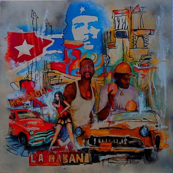 tableau décoration cuba