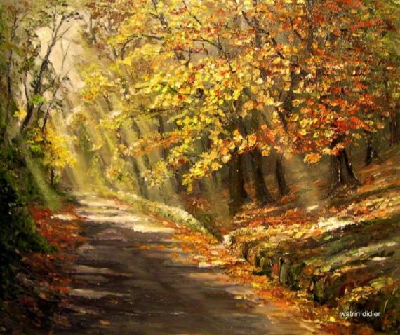 tableau peinture sous bois