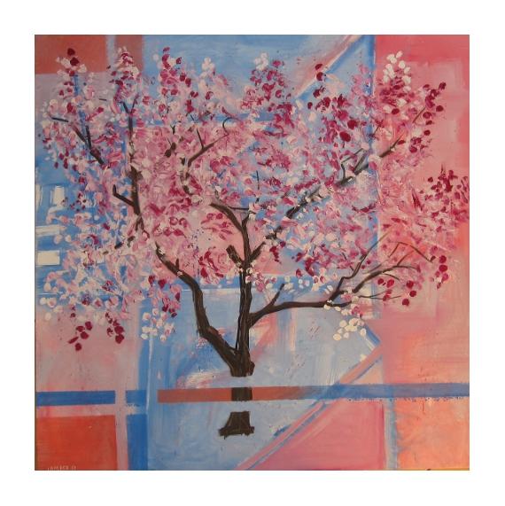 tableau peinture peinture arbres en f tableau contemporain. Black Bedroom Furniture Sets. Home Design Ideas
