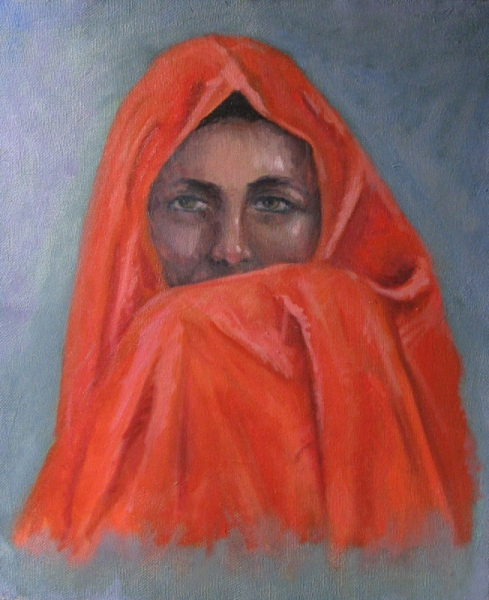 TABLEAU PEINTURE peinture huile portrait toile - portait de femme