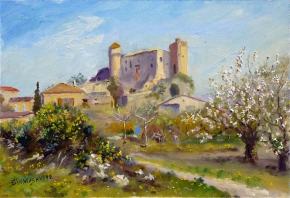 Tableau peinture peinture impressionnisme huile tableaux chateaubourg - Tableaux de peinture a l huile ...