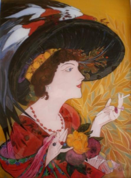 TABLEAU PEINTURE peinture sous verre peinture sur verre i art ...