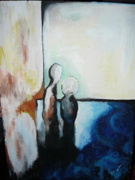 tableau peinture tristesse
