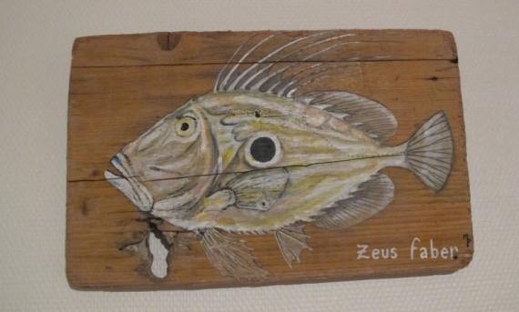 TABLEAU PEINTURE Poisson Saint-Pierre déco poissons décoration ...