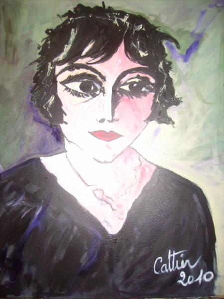 tableau peinture portrait de femme visage sentiment expression la mlancolique. Black Bedroom Furniture Sets. Home Design Ideas