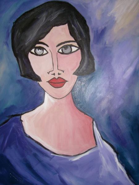 Bevorzugt TABLEAU PEINTURE portrait portrait de femme visage sentiments - La  LM15
