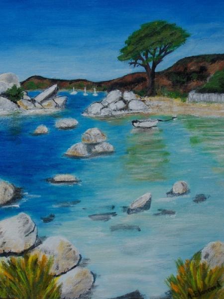 TABLEAU PEINTURE Provence mer rochers - Calanque de l'Esterel