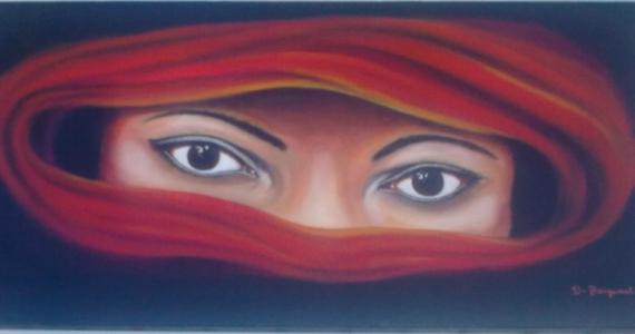 yeux tableau peinture