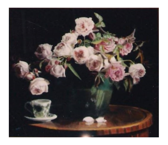 Fabuleux TABLEAU PEINTURE roses anglaises fleurs bouquet - Roses anglaises  NW89
