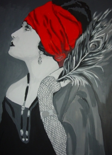 1000 images about mes go ts en peinture on pinterest for Salon blanc noir et rouge
