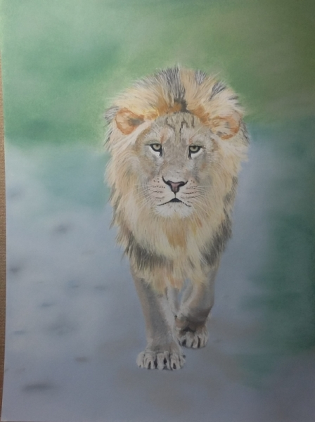 Tableau peinture savane roi des animaux afrique le lion - Animaux du roi lion ...
