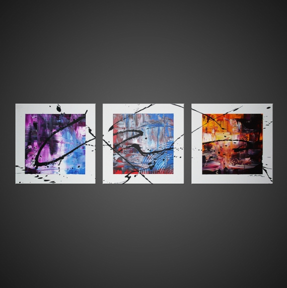 Tableau peinture tableau abstrait moderne design alaska for Tableau peinture moderne design