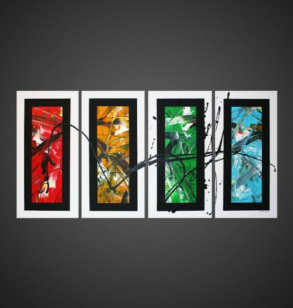 Tableau peinture tableau abstrait moderne design quantum for Tableau peinture moderne design
