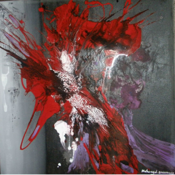 Tableau peinture tableau abstrait peinture l 39 hu oeuvre abstrait peinture - Peinture abstraite a l huile ...
