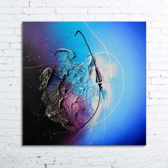 Tableau peinture tableau abstrait peinture relief gravity for Photo de tableau abstrait