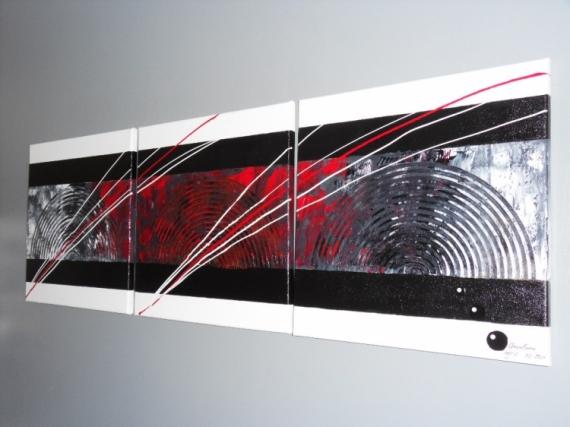 tableau peinture tableau art abstrait moderne abstrait acrylique tryptique wind color - Tableaux Abstraits Colors