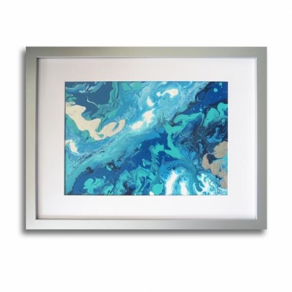 Connu TABLEAU PEINTURE tableau bleu abstrait mer - Tableau océan moderne  PV81