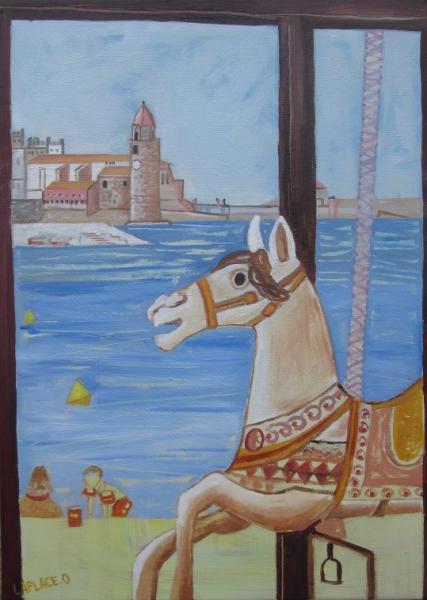 TABLEAU PEINTURE tableau collioure offrir tableau colli peintre celebre coll toile huile phare ...