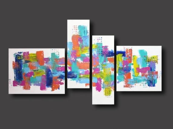 Tableau peinture tableau color abstrait design tableau for Tableau design xxl