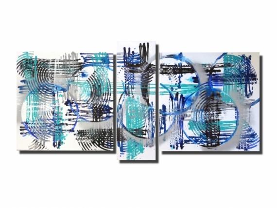 tableau peinture tableau design abstrait bleu tableau triptyque toile design rouge gris noir. Black Bedroom Furniture Sets. Home Design Ideas