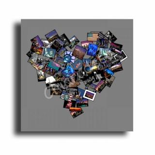 tableau peinture tableau new york coeur photo villes collage tableau coeur new york noir gris. Black Bedroom Furniture Sets. Home Design Ideas
