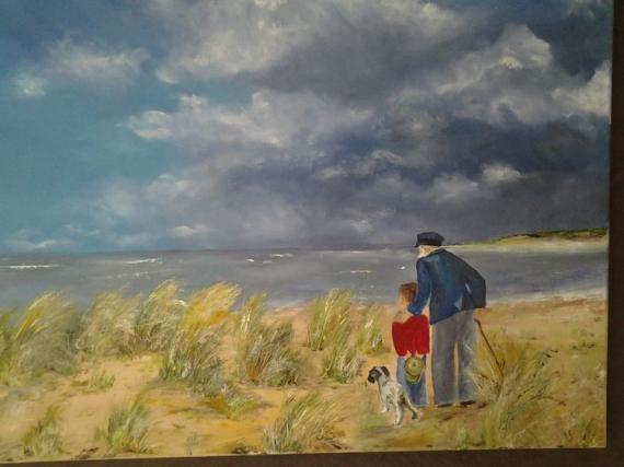 Tableau peinture tableau peinture huile acrylique le vieil homme et la mer - Tableau peinture huile ...