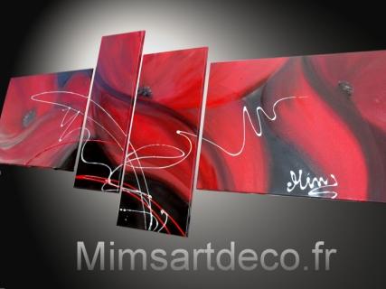 Tableau peinture tableaux abstraits tableaux moderne tableau coquelicot decor - Creation tableau deco ...