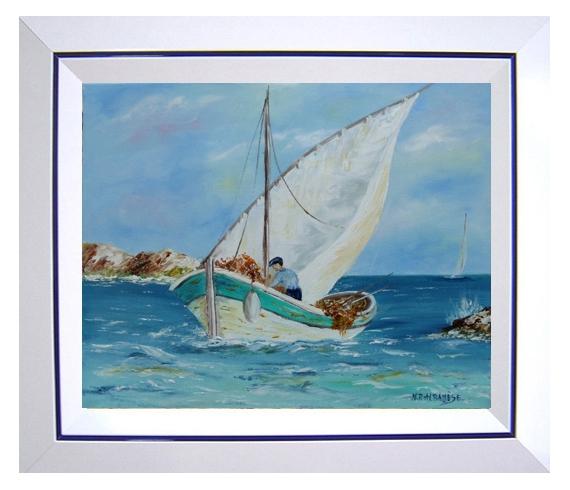 Tableau Peinture Tableaux De Provence Bord Mer Marine Bateau Voiles Pêch Peintres