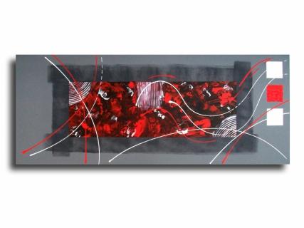 Tableau peinture toile design rouge noir tableau toile rouge gris noir design contemporain moderne - Tableau rouge noir gris moderne ...