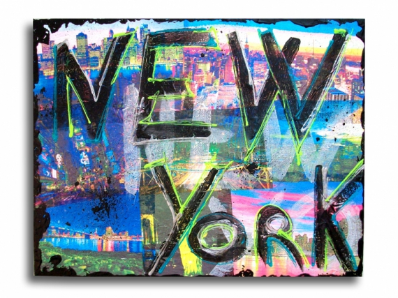 Tableau peinture toile photo new york design tableau new - Tableau de new york ...