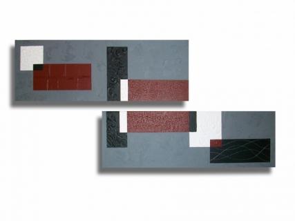 tableau peinture toile rouge abstrait moderne tableau diptyque rouge bordeaux gris noir blanc. Black Bedroom Furniture Sets. Home Design Ideas