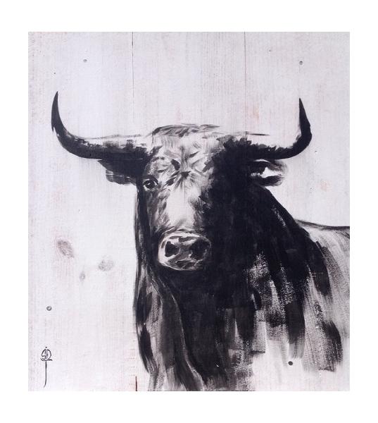 Tableau peinture toro corrida peinture burladero - Dessin de toro ...