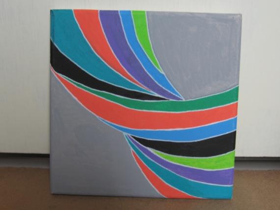 tableau peinture torsion lignes courbes
