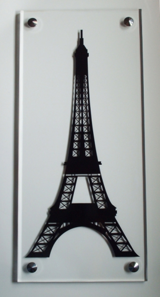 tableau peinture tour eiffel adhsif vinyle plexiglass tour eiffel. Black Bedroom Furniture Sets. Home Design Ideas