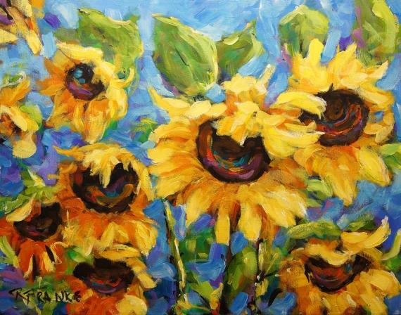 tableau fleurs tournesol