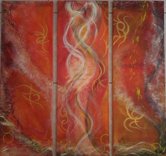 Bien connu Tableau Peinture Couleurs chaudes - Galerie-Creation LG87