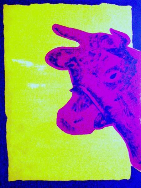 tableau peinture vache pop art haquin corinne vache 2. Black Bedroom Furniture Sets. Home Design Ideas