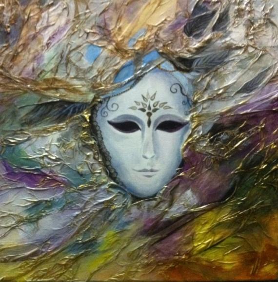 Tableau peinture venise carnaval masque fete masque venise - Masque a peinture ...