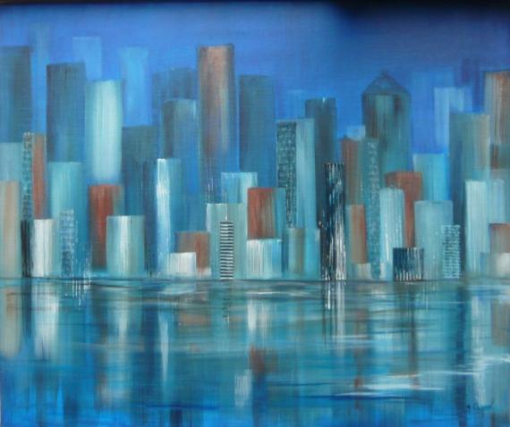 TABLEAU PEINTURE ville new york amerique cité - City 6