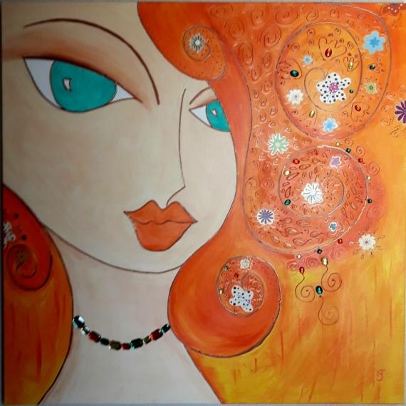 peinture portrait abstrait cv74