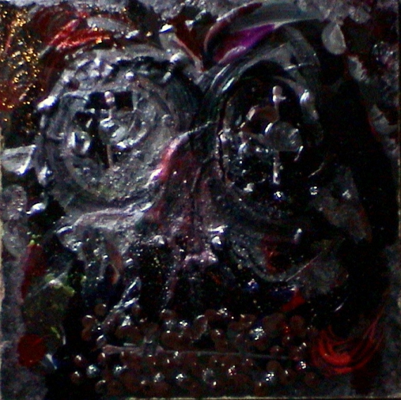 Tableau peinture visage relief po tique mini dark vador - Visage de dark vador ...