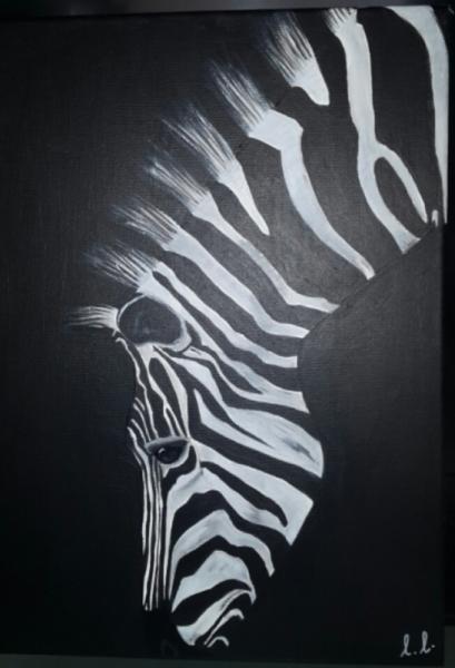 tableau peinture zebre noir blanc zebre dans la p nombre. Black Bedroom Furniture Sets. Home Design Ideas