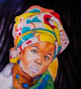 tableau personnages : African Girl