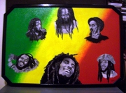 tableau personnages bob marley chanteur : MARLEY'S