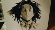 tableau personnages bob marley : musique